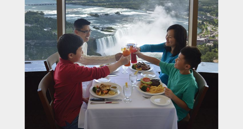 Niagara Falls – Skylon Tower - Ride to the Top with Lunch at the Revolving Room